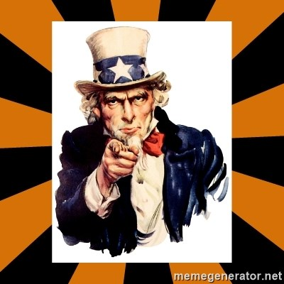 Uncle sam wants you! -