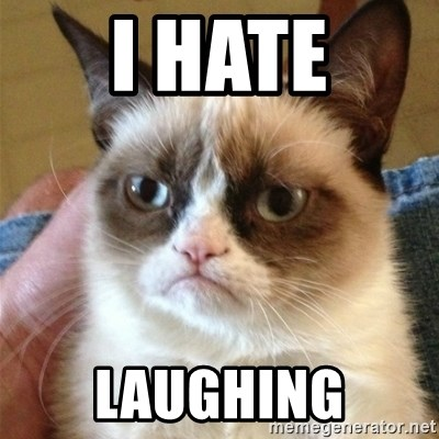 Grumpy Cat  - i hate laughing