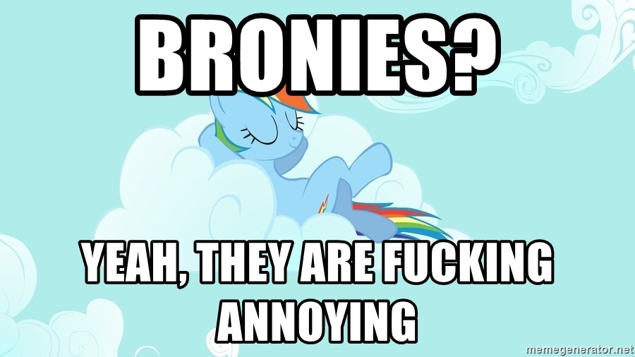 Rainbow Dash Cloud - Bronies? Yeah, they are fucking annoying