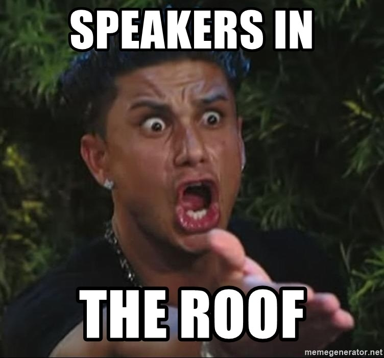 Pauly D - Speakers in The roof