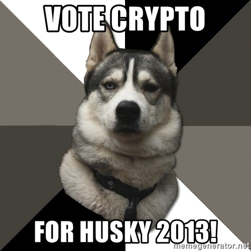 Wise Husky - Vote Crypto For Husky 2013!