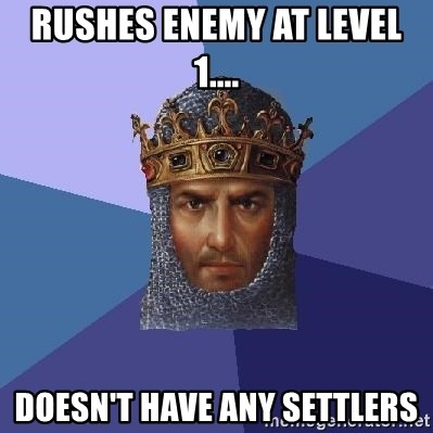 Age Of Empires - RUSHES ENEMY AT LEVEL 1.... DOESN'T HAVE ANY SETTLERS