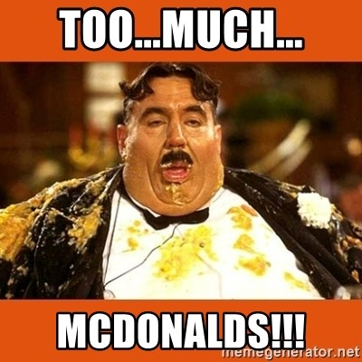 Fat Guy - too...much... MCDONALDS!!!