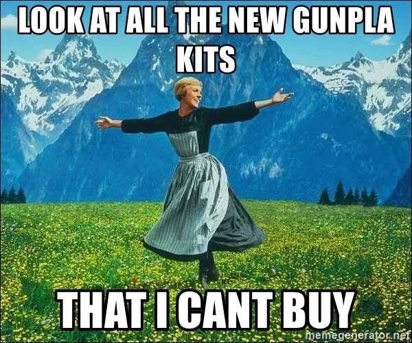 Look at all the things - look at all the new gunpla kits that i cant buy