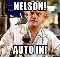 Doc Back to the future - Nelson! auto in!