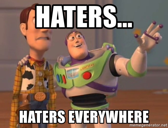 Tseverywhere - haters... haters everywhere