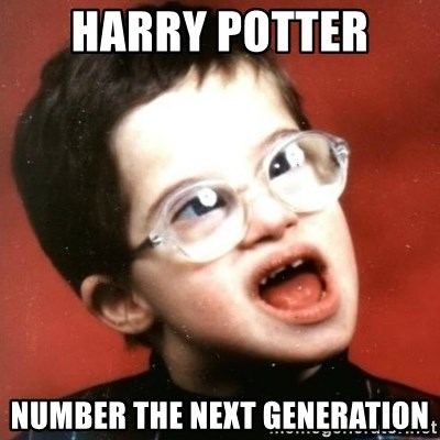 retarded kid with glasses - harry potter  number the next generation