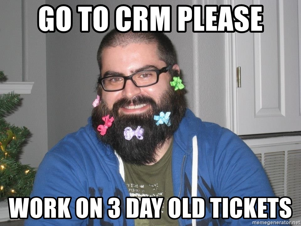 Bad Guy Service Levels - Go to crm please work on 3 day old tickets