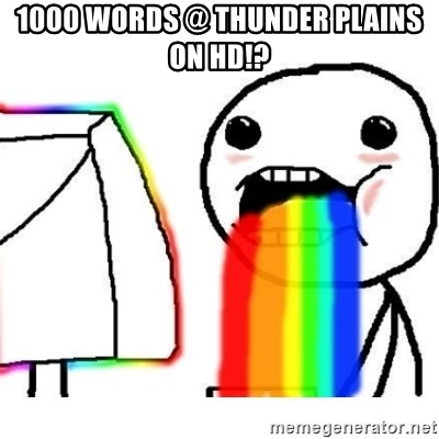 Puking Rainbows - 1000 Words @ Thunder plains on hd!?