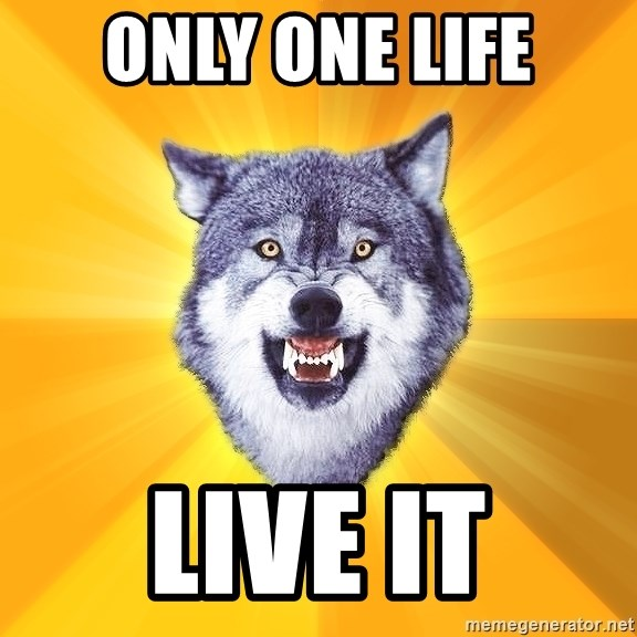 Courage Wolf - ONLY ONE LIFE LIVE IT