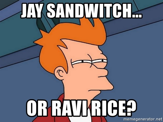 Futurama Fry - Jay sandwitch... Or ravi rice?