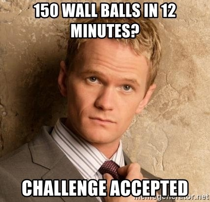 BARNEYxSTINSON - 150 wall balls in 12 minutes? Challenge accepted