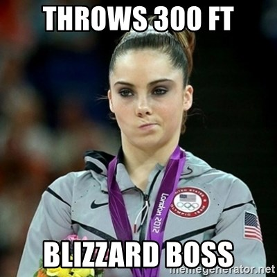 Not Impressed McKayla - Throws 300 ft blizzard boss