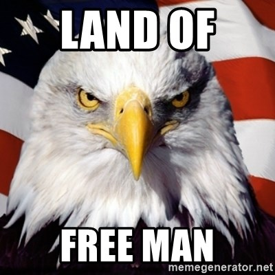 Freedom Eagle  - LAND OF  FREE MAN