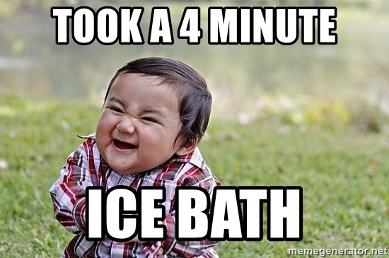 Evil Asian Baby - Took a 4 minute Ice bath