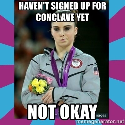 Makayla Maroney  - haven't signed up for conclave yet not okay