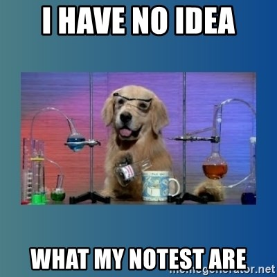 Chemistry Dog - I have no idea what my notest are