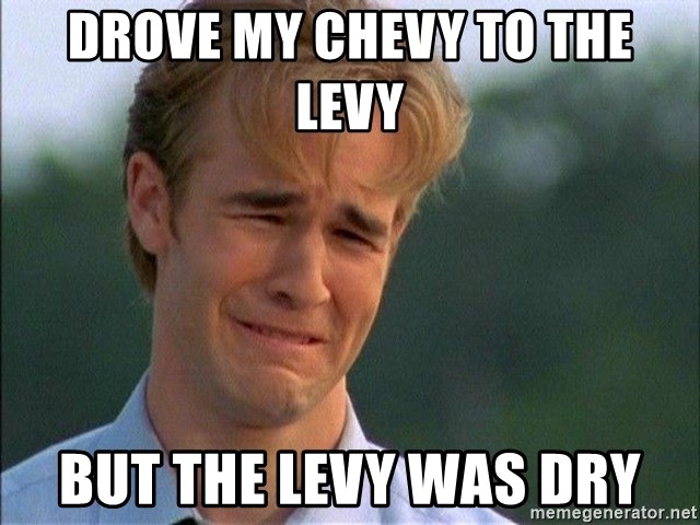 Crying Man - DrOve my Chevy to the levy But the levy was dry