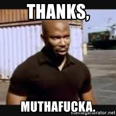 James Doakes surprise - Thanks, Muthafucka.
