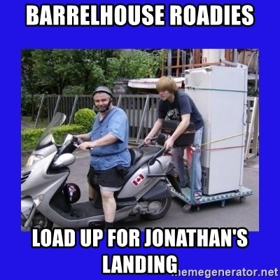 Motorfezzie - barrelhouse roadies load up for jonathan's landing