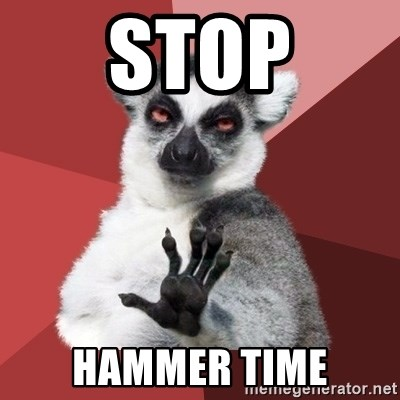 Chill Out Lemur - stop hammer time