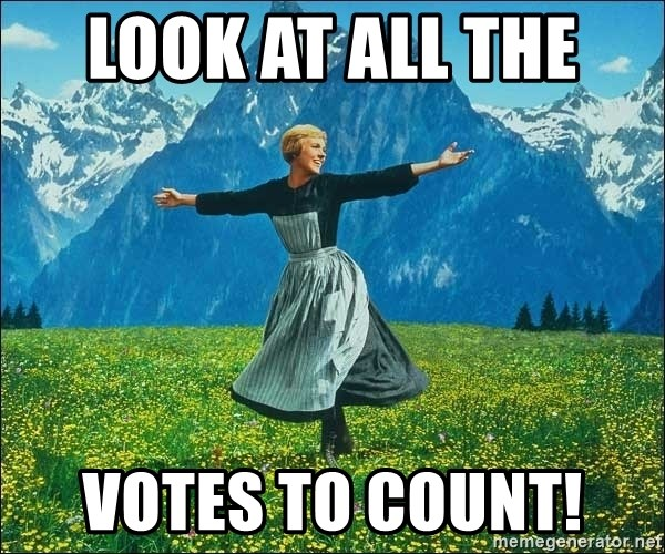 Look at all the things - Look at all the  Votes to count!