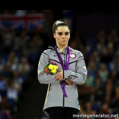 Unimpressed McKayla Maroney -