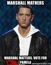 Eminem - marshall mathers marshal matters. Vote for Pamela