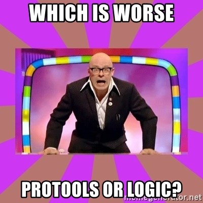 Harry Hill Fight - Which IS WORSE PROTOOLS OR LOGIC?