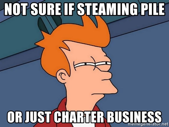 Futurama Fry - Not sure if steaming pile or just charter business