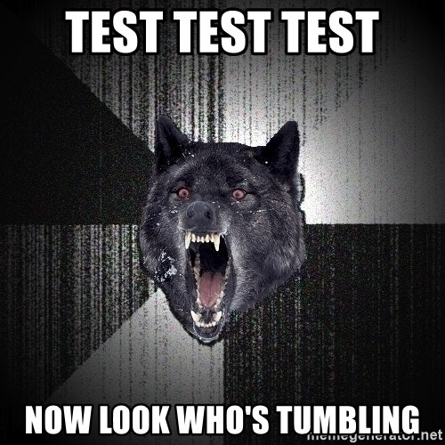 Insanity Wolf - test test test now look who's tumbling
