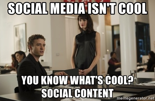 sean parker - Social media isn't cool You know what's cool?     Social content