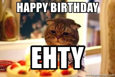 Birthday Cat - happy birthday  ehty