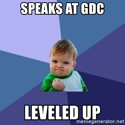 Success Kid - speaks at gdc leveled up