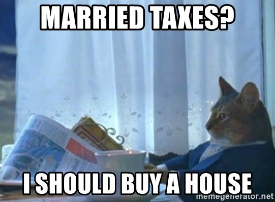 newspaper cat realization - Married Taxes? I Should Buy A House