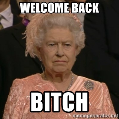 The Olympic Queen - Welcome Back Bitch