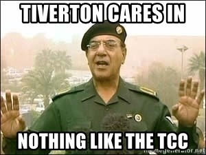 Baghdad Bob - tiverton cares in  nothing like the tcc