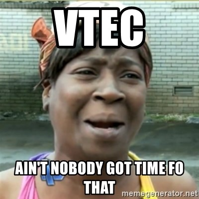 Ain't Nobody got time fo that - VTEC Ain't nobody got time fo that