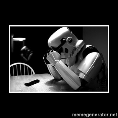 Sad Trooper -