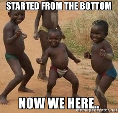 Dancing African Kid - Started from the bottom now we here..