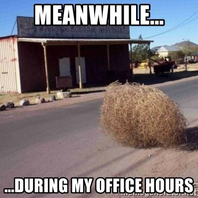 Tumbleweed - meanwhile... ...during my office hours