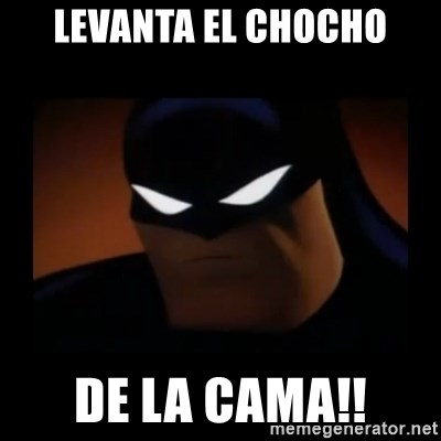 Disapproving Batman - LEVANTA EL CHOCHO DE LA CAMA!!