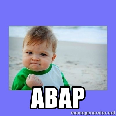 Baby fist -  ABAP