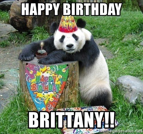 Happy Birthday Panda - Happy birthday Brittany!!