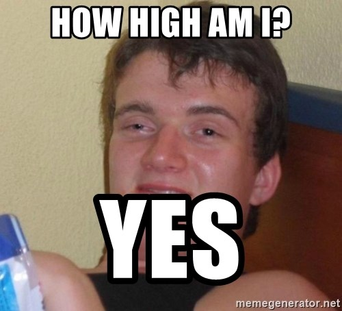 high/drunk guy - how high am i? yes