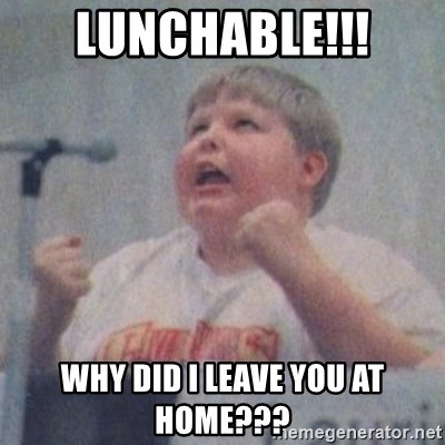 The Fotographing Fat Kid  - Lunchable!!! why did i leave you at home???