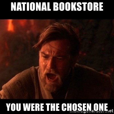 You were the chosen one  - National Bookstore  YOU WERE THE CHOSEN ONE