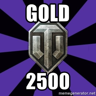 World of Tanks - GOLD 2500