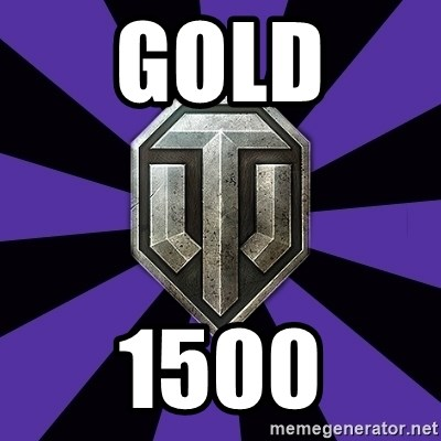 World of Tanks - GOLD  1500