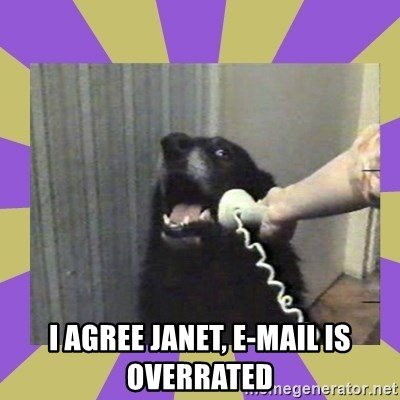 Yes, this is dog! -  i agree janet, e-mail is overrated